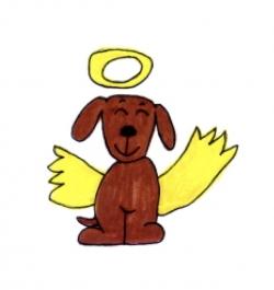 Mr. Pooper in his angel form.
