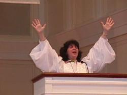 Rev. Anne Robertson preaching this sermon