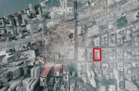 Map of Ground Zero area with Mosque location highlighted.